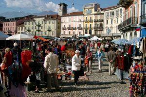 Markt in Cannobio am Lago Maggiore